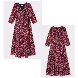 Isabel Maternity Floral Chiffon Maxi Dress